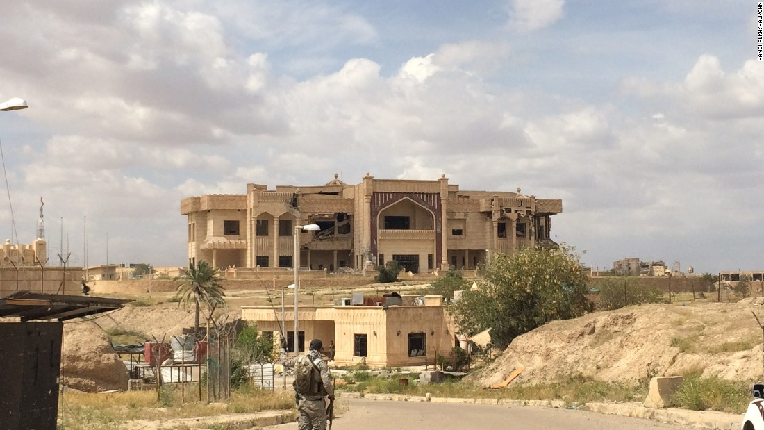 One of Hussein's palaces, which was bombed amid the fight to push ISIS out of the city.