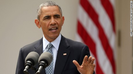 WASHINGTON, DC - APRIL 02:  U.S. President Barack Obama delivers remarks about the agreement reached with Iran about a peaceful nuclear program in the Rose Garden at the White House April 2, 2015 in Washington, DC. The so-called P5+1 nations reached an agreement for an Iranian nuclear program and a process to lift sanctions against Iran after talks in Switzerland.  (Photo by Chip Somodevilla/Getty Images)