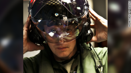 Helmet lets pilots see through plane