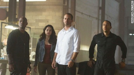 """Tyrese Gibson, Michelle Rodriguez, Paul Walker and Ludacris in """"Furious 7."""""""