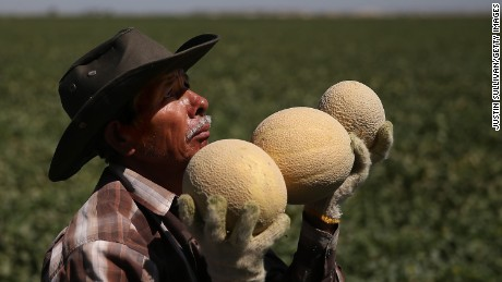 Mellon prices went up last year because of the California drought.