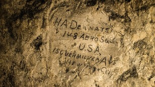 Graffiti from WWI found underground