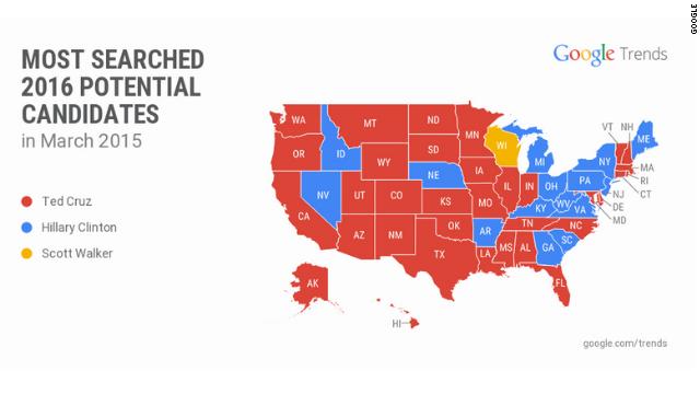 Las sorprendentes búsquedas en Google sobre los precandidatos presidenciales