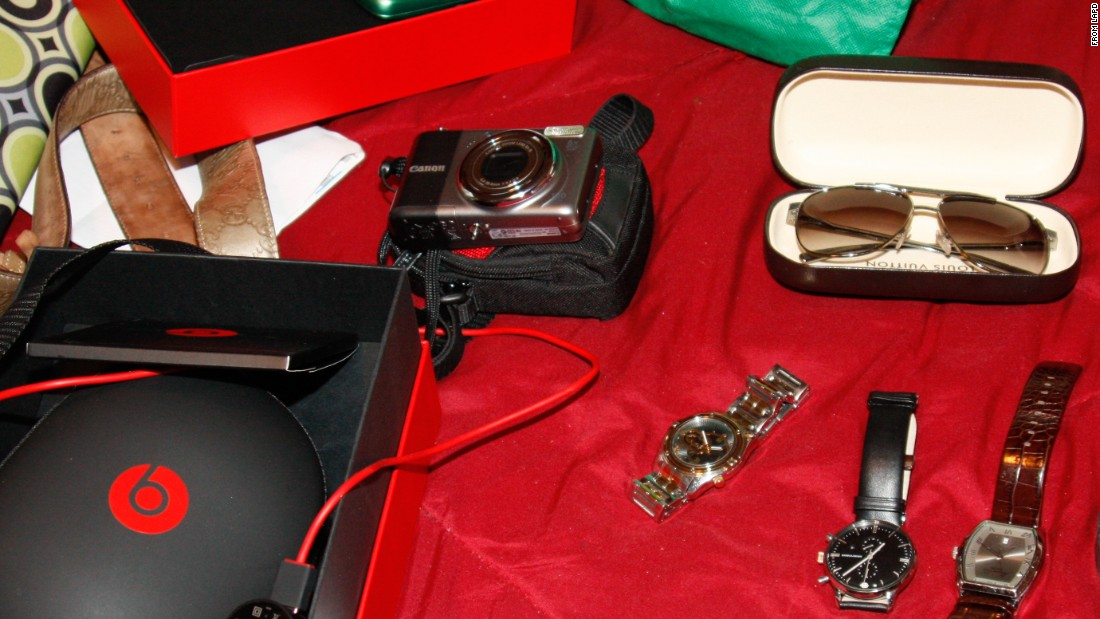 Police in Los Angeles last year executed search warrants on 25 locations after getting complaints about thefts in two terminals at the Los Angeles International Airport. Click through this gallery to see some of the items police believe were taken from passengers' luggage.