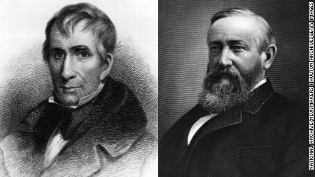 William Henry Harrison's (left) tenure as the nation's ninth president didn't last long. But his grandson, Benjamin Harrison, did serve a full four-year term as the 23rd president.