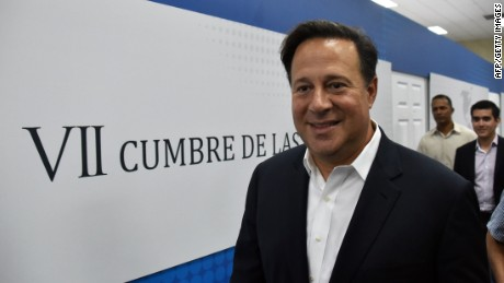 Panamanian President Juan Carlos Varela visits the Atlapa Convention center, site for the upcoming VII Summit of the Americas, in Panama City on April 2, 2015. The summit will take place on April 10 and 11. AFP PHOTO/ Rodrigo ARANGUARODRIGO ARANGUA/AFP/Getty Images