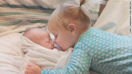 Kids meeting their baby siblings