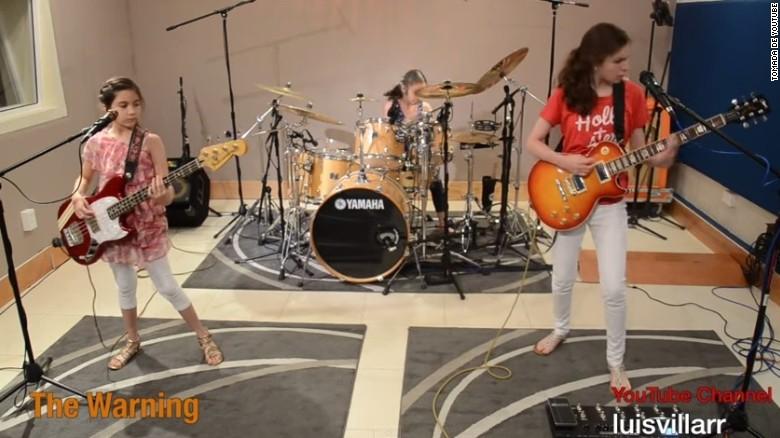 Las 'Niñas Metallica' causan furor en las redes sociales