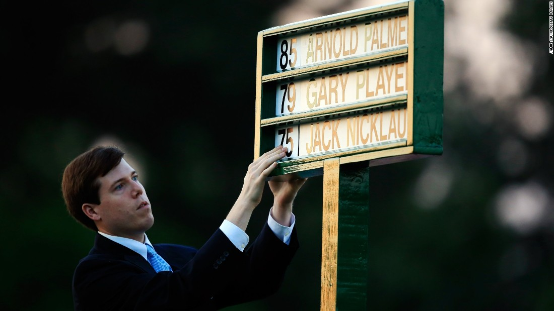 Names of the honorary starters, with their ages, are placed in a standard on the first tee. Player won three Masters titles while Nicklaus holds the record with six, and in 1986 was the oldest victor aged 46.