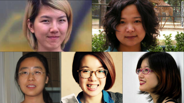 China libera a tres activistas feministas