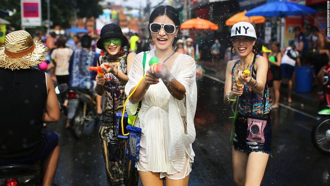 Unfortunately, some alcohol-fueled Songkran revelers have been known to get overly touchy-feely with the ladies, so be on guard for wandering hands when you're out playing.