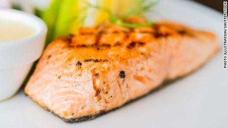 "Polyunsaturated fat, the ""good"" fat, is found in fatty fish like salmon and in some vegetable oils."