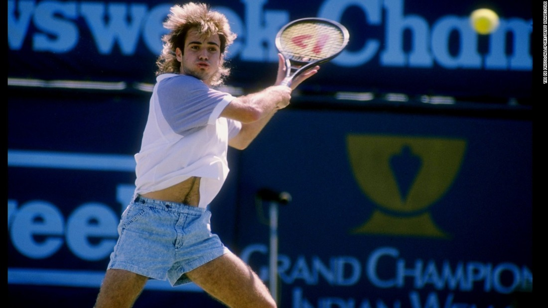 Agassi also made a lasting impact on tennis fashion -- introducing denim shorts.
