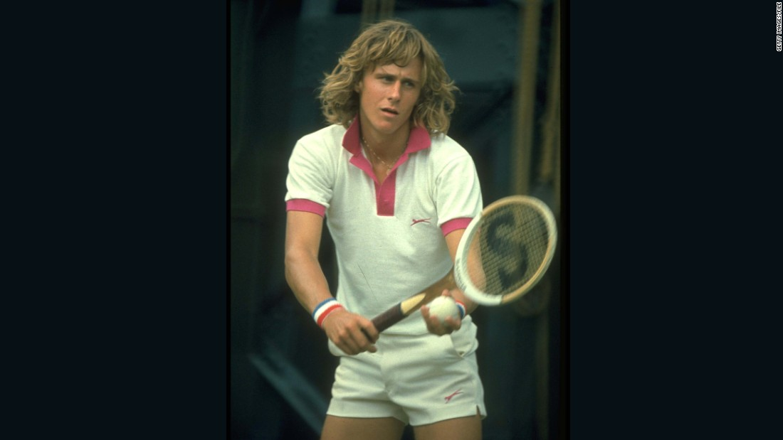 """Known as one of the world's best clay-courters, Borg (pictured in 1974) said he played """"terribly"""" when he first practiced on grass for Wimbledon."""
