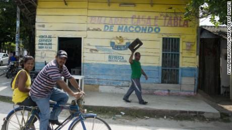A street of the Colombian village of Aracataca, hometown of late Colombian Nobel Prize 1982 in Literature laureate Gabriel Garcia Marquez