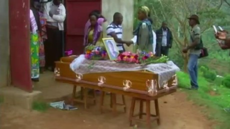 Village holds funeral for Kenya massacre victim