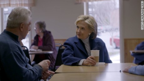 Hillary Clinton is shown in her first 2016 Presidential campaign video.