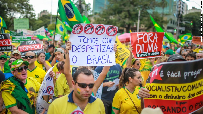 Brazilians protest, demand President's impeachement