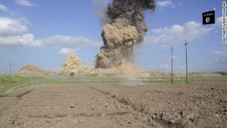 Video of ISIS destruction in Iraq's ancient city of Nimrud, April 11, 2015