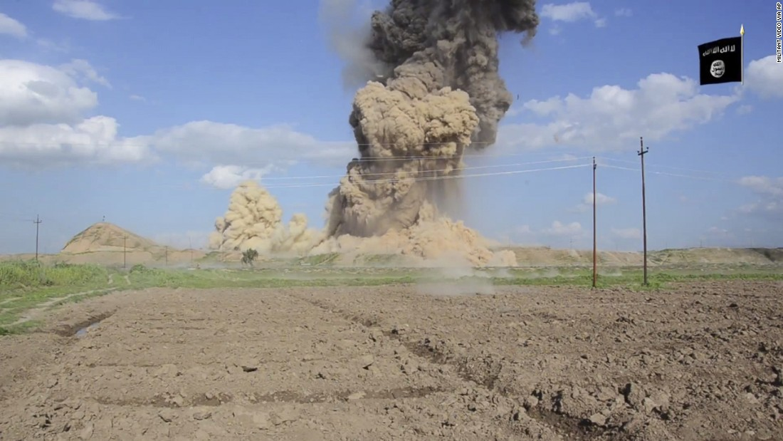 "ISIS released a propaganda video showing its fighters destroying Iraq's ancient Assyrian city of Nimrud in March. The destruction follows other attacks on antiquity carried out by the militant group in Iraq and Syria. The United Nations has described such deliberate cultural destruction as a ""war crime."""