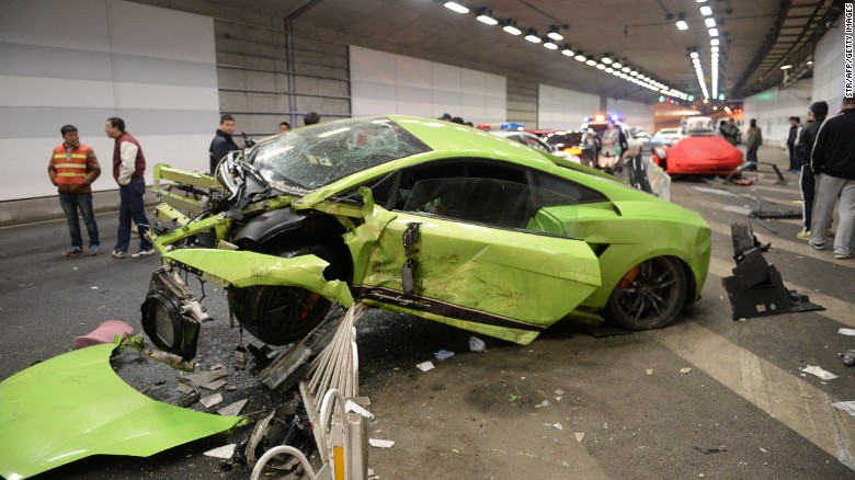 China Luxury Cars Wrecked In Fast And Furious Collision