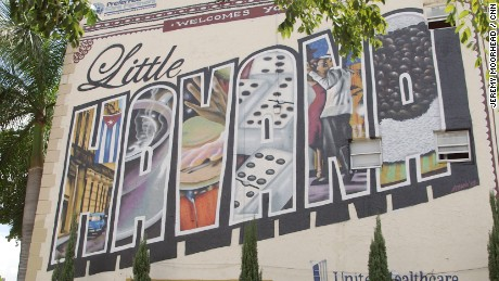 artwork murals from the little havana area of Miami florida