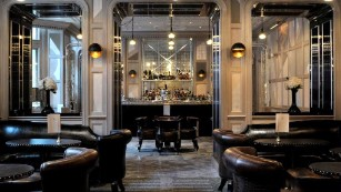 Don't be fooled by mirrored ceilings and white marble floors. The Connaught's bar is elegant but not stuffy.