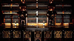 Drinks just taste better when they come from behind such an elegant bar.