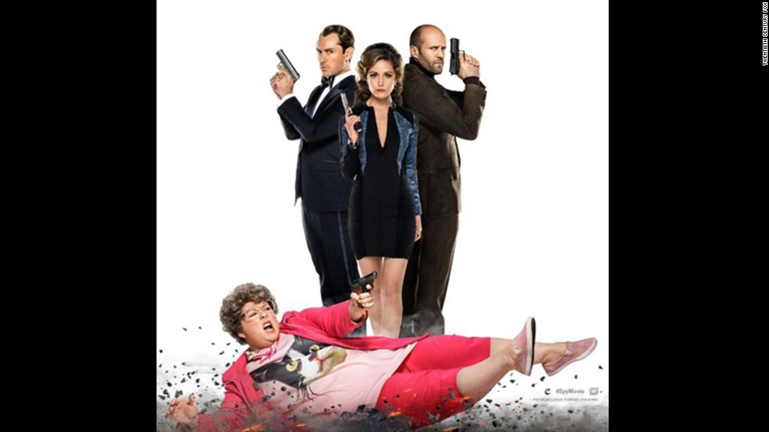 "Melissa McCarthy as a spy? Well, in ""Spy,"" when the usual posh agents -- the likes of Jason Statham, right, and Jude Law -- go missing, someone's gotta step into the breach. Paul Feig (""Bridesmaids,"" ""The Heat"") directs. The film opened June 5."