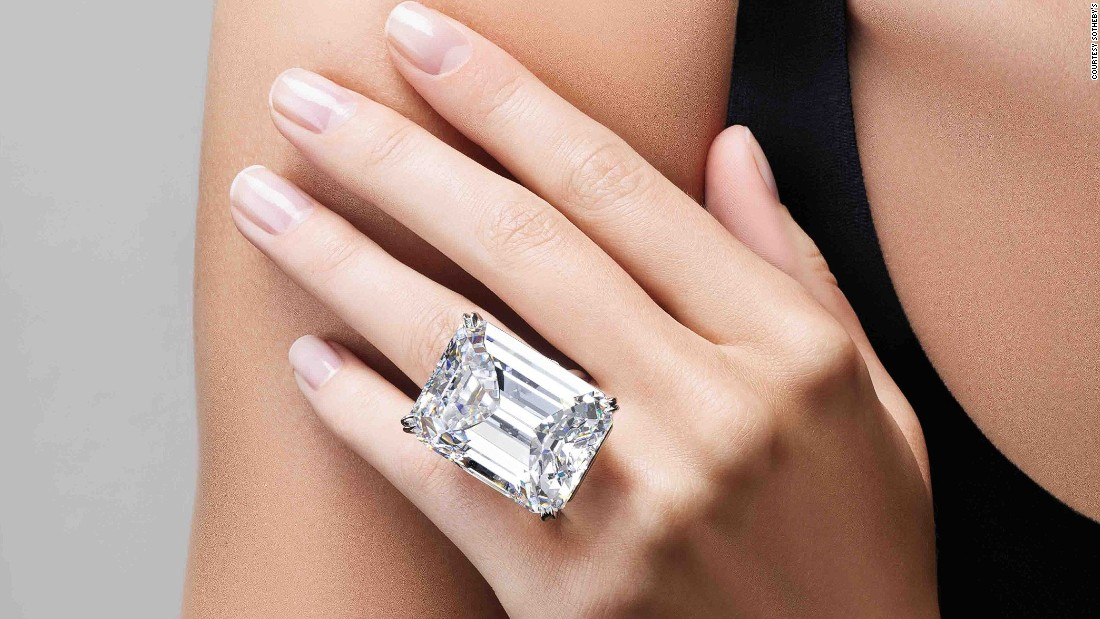 Sotheby s perfect 100 carat diamond sells for $22M CNN