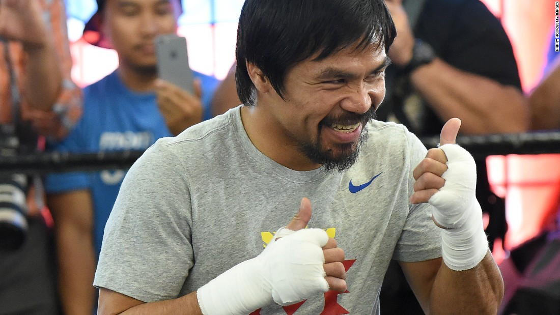 "Star of ""Manny,"" a film recently released in the Philippines, Pacquiao said he's ready to rumble. ""What I feel right now is motivation, inspiration and determination,"" he said at the Wild Card Boxing Club, his training headquarters in Hollywood. ""The killer instinct is there, I love it."""