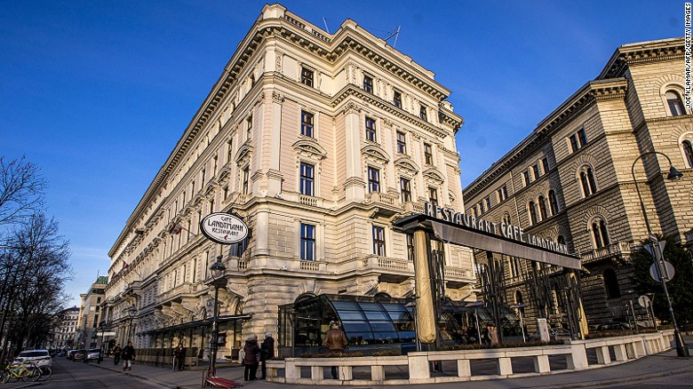 The Cafe Landtmann coffee house was opened 1873 by Franz Landtmann.