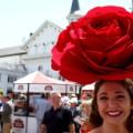 Kentucky Derby rose hat