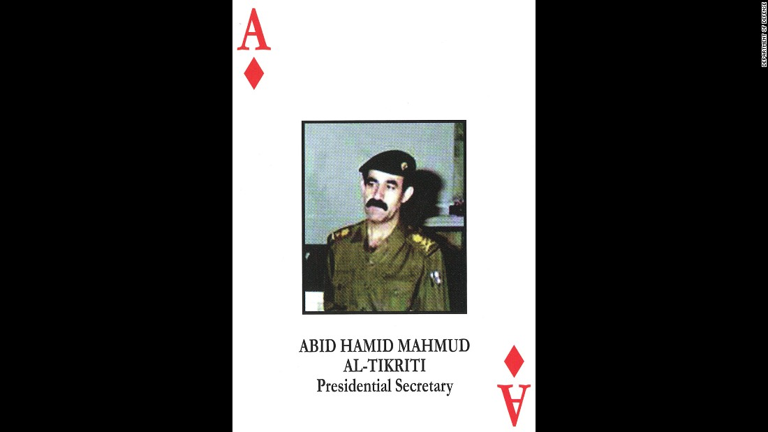 Gen. Abed Hamoud Mahmud al-Tikriti<br />Saddam Hussein's personal secretary and senior bodyguard<br />June 18, 2003: Captured and later convicted and sentenced to death.<br />June 7, 2012: Executed.