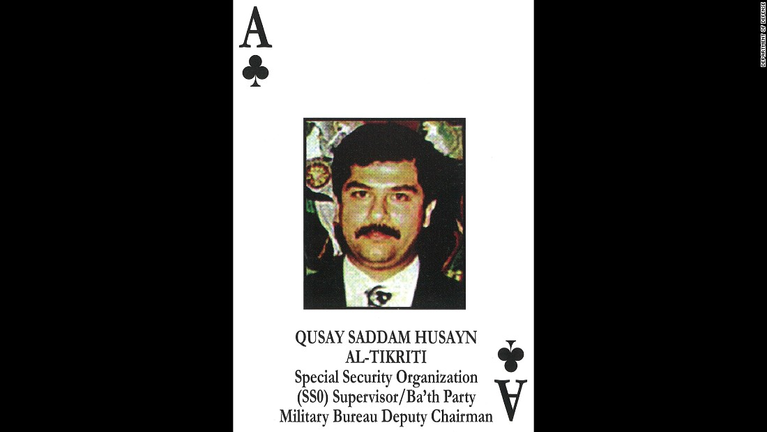 Qusay Hussein<br />Saddam Hussein's second son<br />Chief, Special Security Organization / Special Republican Guard; Commander, Central Region Commander<br />July 22, 2003: Killed in firefight in Mosul.