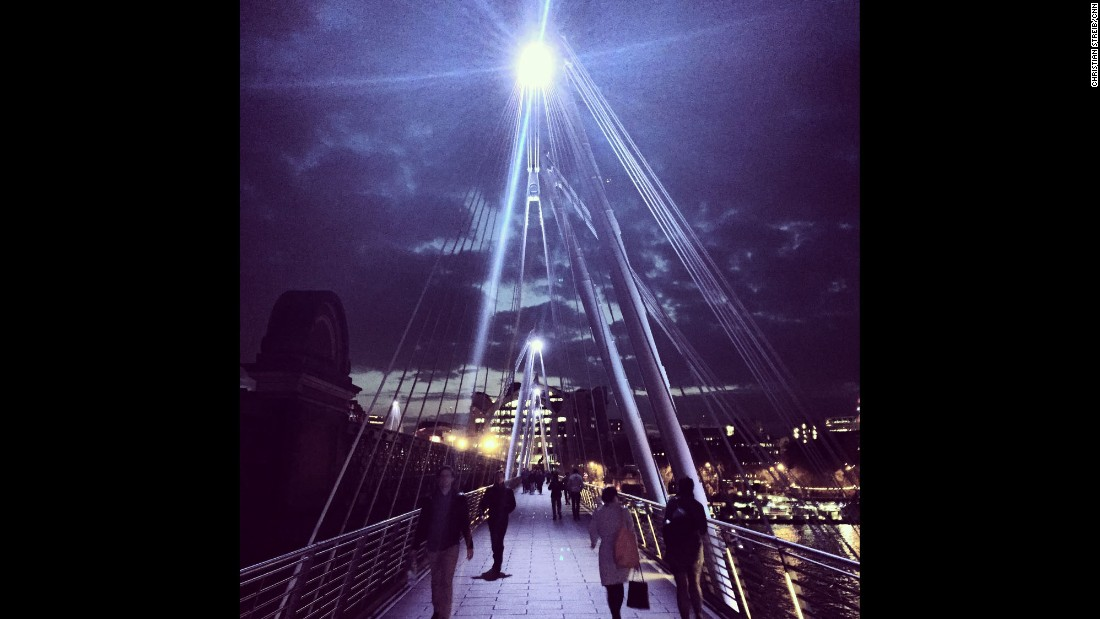 """LONDON: Sightseeing at night. Photo by CNN's Christian Streib.<br />Follow <a href=""""http://instagram.com/christianstreibcnn"""" target=""""_blank"""">@christianstreibcnn</a> and other CNNers on the <a href=""""http://instagram.com/cnnscenes"""" target=""""_blank"""">@cnnscenes</a> gallery on Instagram for more images you don't always see on news reports from our teams around the world."""