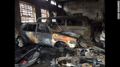"SOUTH AFRICA: ""The lasting effects of xenophobic violence in South Africa as attacks spread to Johannesburg. An auto shop owned by Nigerians is completely destroyed. They say they simply don't have enough money to start over. Everything they had went into this shop."" - CNN's Brent Swails, April 17. Follow @bsswails and other CNNers on the @cnnscenes gallery on Instagram for more images you don't always see on news reports from our teams around the world."