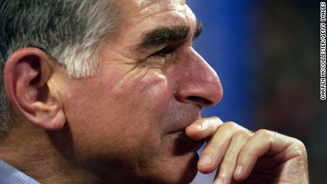BOSTON - JULY 28:  Former Massachusetts Governor and one time presidential candidate Michael Dukakis listens to speeches July 28, 2004 at the FleetCenter during the third day of the Democratic National Convention in Boston, Massachusetts. U.S. Senator John F. Kerry (D-MA) is expected to accept his party's nomination July 29.   (Photo by Darren McCollester/Getty Images)