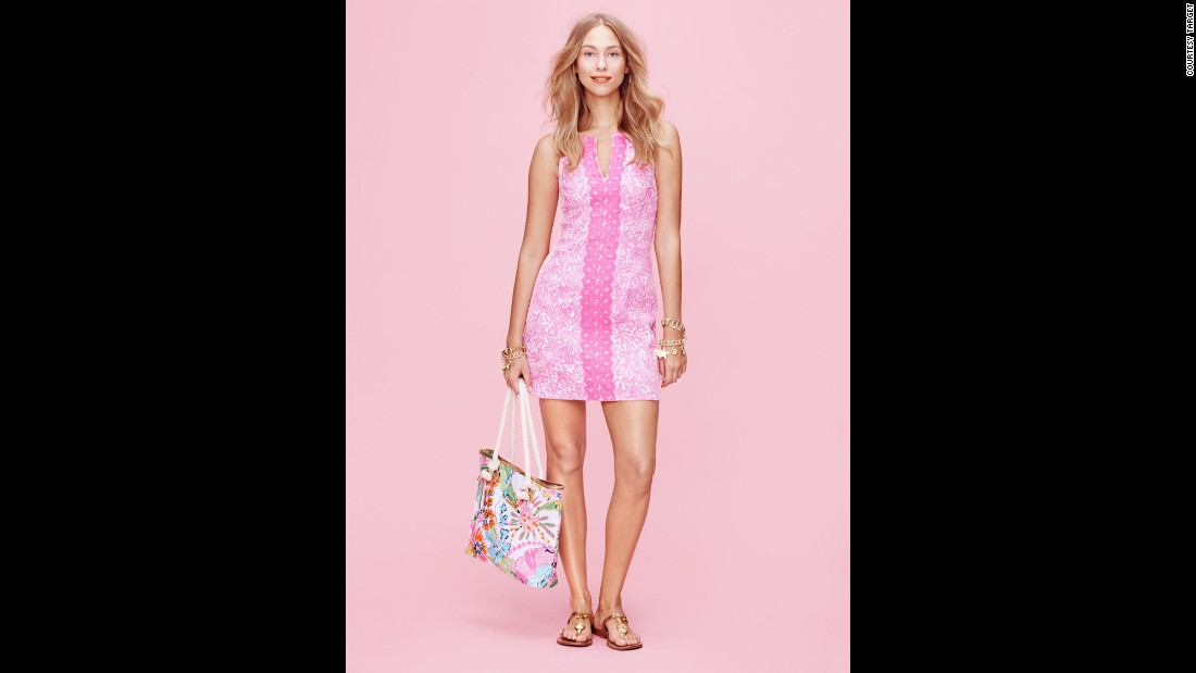 A sorority-girl favorite, the Lilly Pulitzer brand is best known for shift dress designs in vibrant prints.