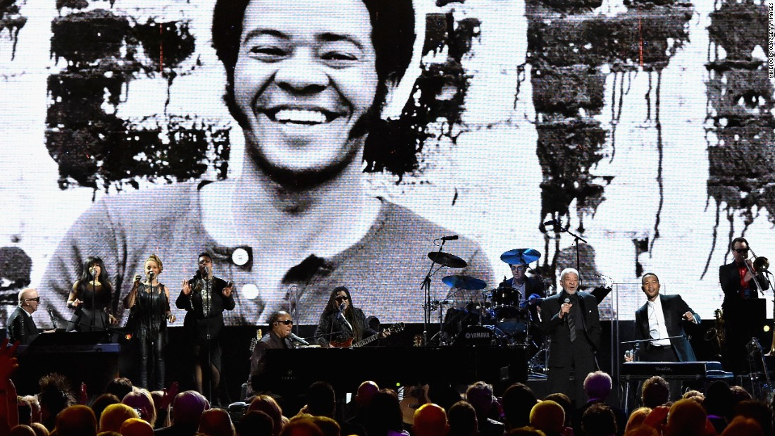 Stevie Wonder, Bill Withers and John Legend performed together at the 30th Annual Rock And Roll Hall Of Fame induction ceremony Saturday at Public Hall in Cleveland, Ohio.