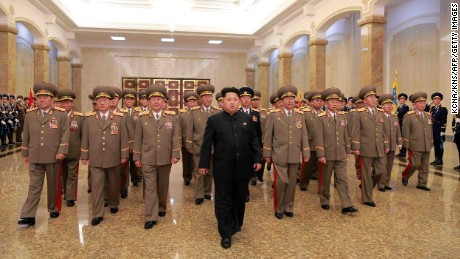 Kim Jong-Un visits the Kumsusan Palace of the Sun in Pyongyang to celebrate the 103rd birth anniversary of late president Kim Il-Sung, his grandfather on April 15.