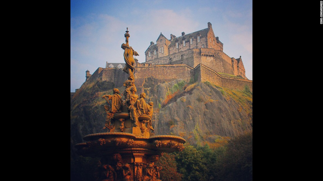"SCOTLAND: Edinburgh Castle dominates the Scottish capital. The site has been occupied since the Bronze Age but the oldest surviving component, St Margaret's Chapel, dates from the 12th century. The castle remains one of the country's most popular tourist attractions. Photo by CNN's Nicol Nicolson. <br />Follow <a href=""http://instagram.com/nicolnic"" target=""_blank"">@nicolnic</a>  and other CNNers on the <a href=""http://instagram.com/cnnscenes"" target=""_blank"">@cnnscenes</a> gallery on Instagram for more images you don't always see on news reports from our teams around the world."