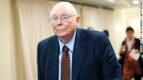 Charles Munger, vice chairman of Berkshire Hathaway Inc., arrives for a news conference in Omaha, Nebraska, U.S., on Sunday, May 1, 2011.