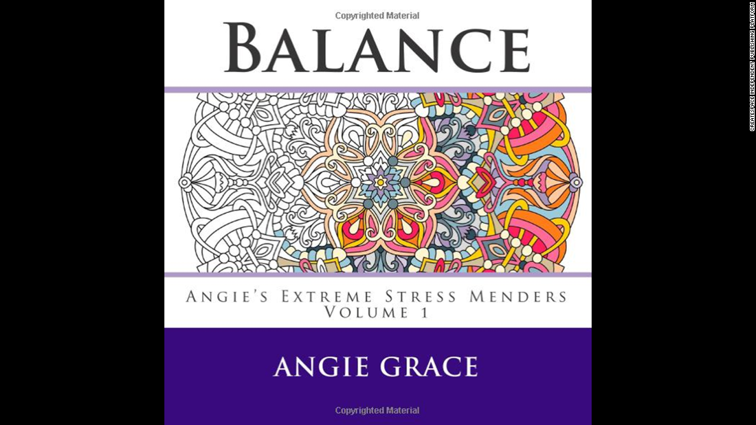 "Relieving stress and restoring calm are common themes on the adult coloring book market. ""<a href=""http://www.amazon.co.uk/Balance-Angies-Extreme-Stress-Menders/dp/1508582211/ref=sr_1_1?s=books&ie=UTF8&qid=1429572376&sr=1-1&keywords=Balance+%28Angie%27s+Extreme+Stress+Menders+Volume+1%29"" target=""_blank"">Balance (Angie's Extreme Stress Menders Volume 1)</a>"" by Angie Grace is one in a series of such coloring books."