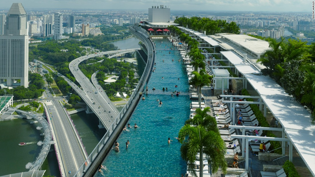 Moshe safdie the architect that shapes singapore - Marina bay sands resort singapore swimming pool ...