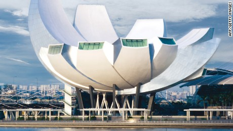 Singapore-ArtScience Museum: Some say it looks like a robotic hand, some say a lotus flower.
