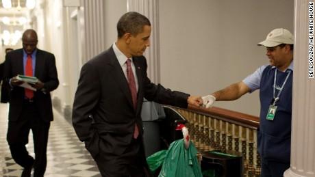 obama barack a fist bump picture County
