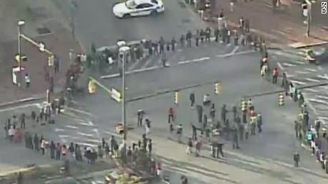 tsr live todd baltimore protesters block major intersection_00002919