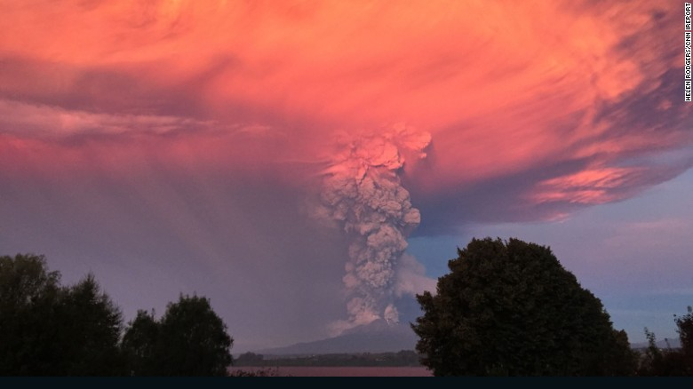 American Helen Rodgers witnessed the volcano erupt from the Hotel Patagonico in Puerto Varas, a popular tourist destination.