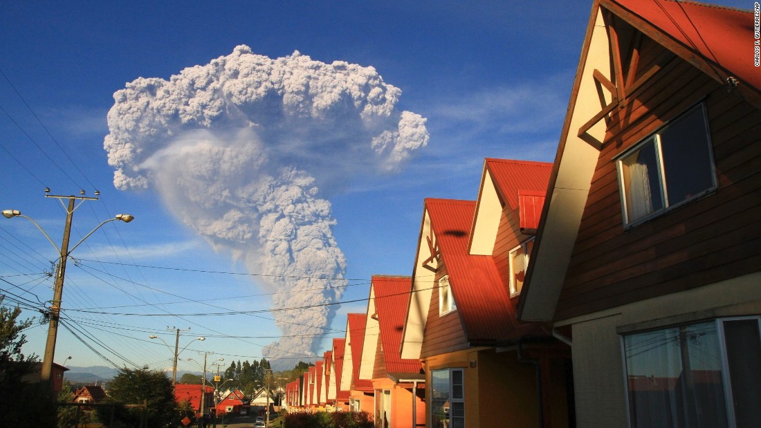 The Calbuco Volcano erupts near Puerto Varas, Chile, on Wednesday, April 22.